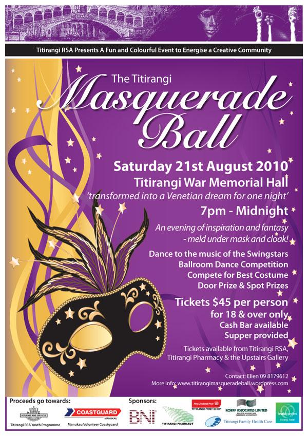 Mask ball poster